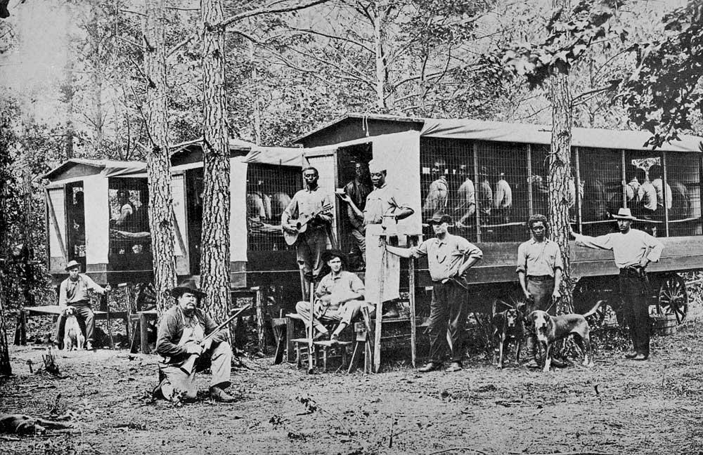 Передвижная бригада заключенных в Северной Каролине. Фото 1910 г. Library of Congress.