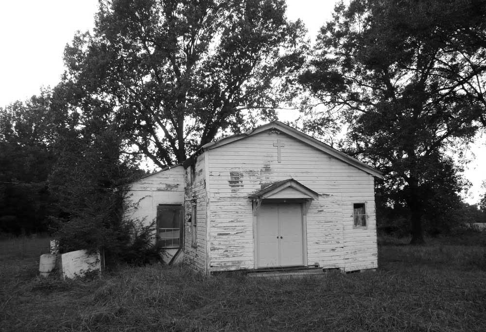 Причард, Коахома-каунти. Старая церковь, у которой похоронен Вилли Браун. Октябрь 2008. Фото В.Писигина.