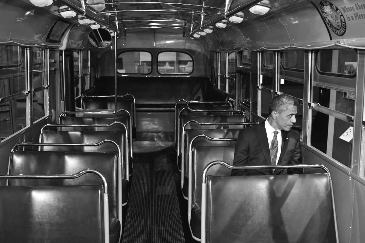Президент Барак Обама в Музее Розы Паркс. Монтгомери, Алабама.