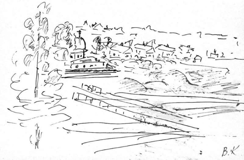 Торжок. Рисунок В. Кашковой
